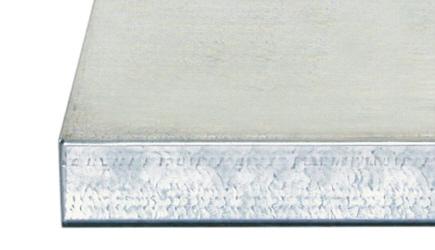 Blat ze sklejki pokryty blachą ocynkowaną