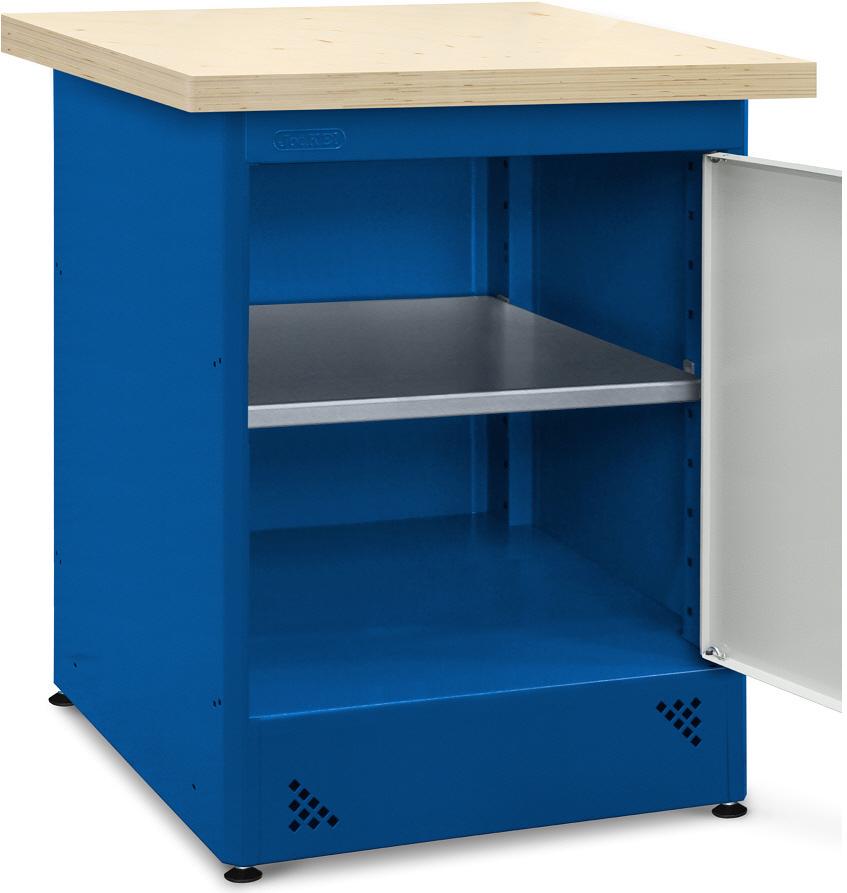 Wnętrze szafki z półką