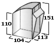 Pojemnik uchylny 1,3l