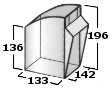 Pojemnik uchylny 2,5l