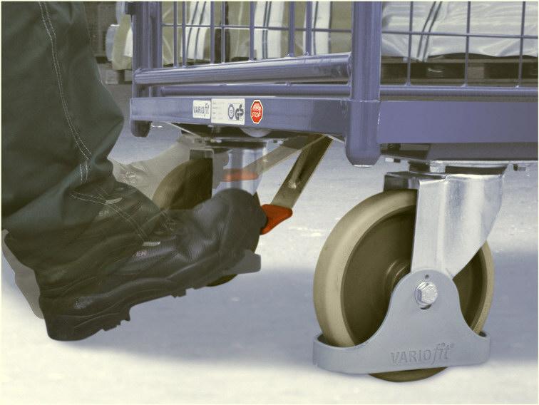 Hamulec centralny wózka